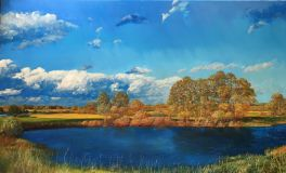 Landscape lake Blue