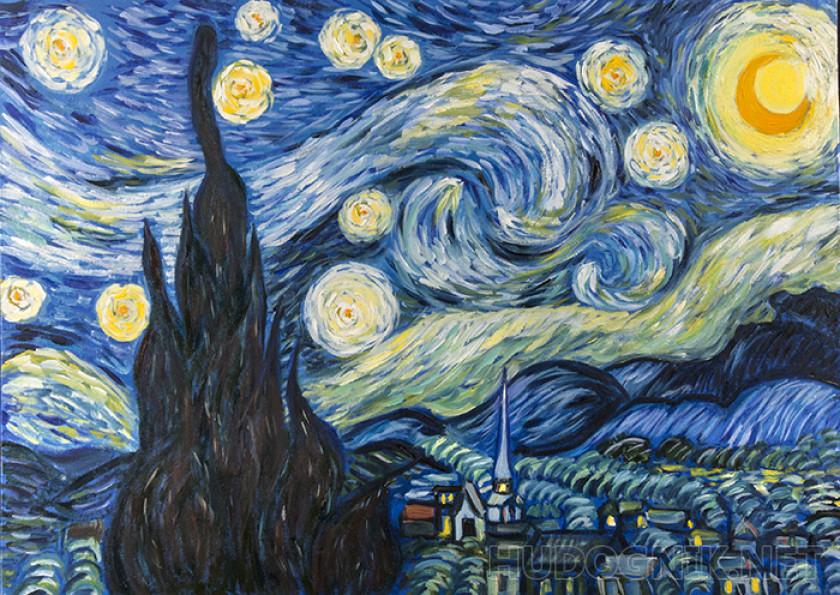 Copy van Gogh Starry night