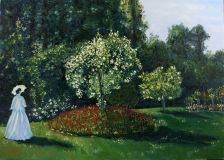A copy of Claude Monet Lady in the garden