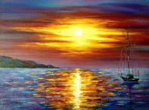 """Sunset over sea"""