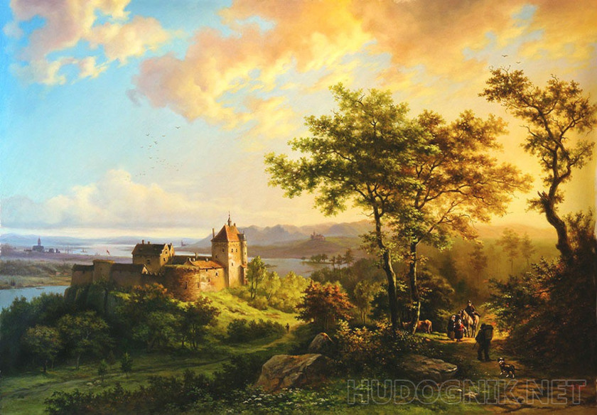 Summer landscape with castle