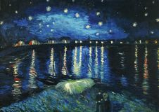 Copy of a van Gogh Night over the Rhone
