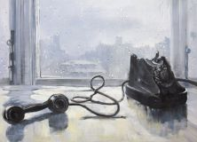 "Copy of the painting by Yuri Pimenov ""Waiting"""