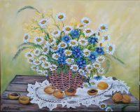 Daisies and apricots