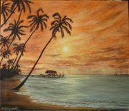 """Tropical sunset""."