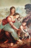 "Oil painting ""Saint Anne with Mary and Christ child"""