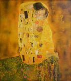 "copy of the painting Klimt ""the Kiss"""
