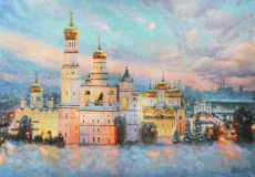 The frosty beauty of the Kremlin