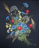 Bouquet of cornflowers and clover