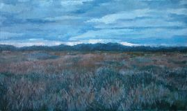 Autumn, evening, the reeds
