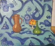 Still life with apples. A free copy of Matisse