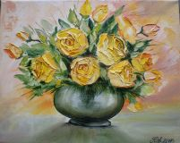 """Bouquet of yellow roses."""