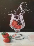 The magic of water. Strawberries.