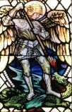 The Archangel Michael striking the dragon