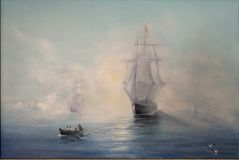 Free copy of the painting by Aivazovsky