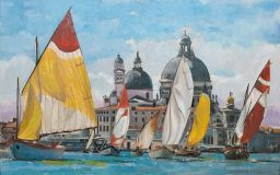 Venice, the city skyline, the sails
