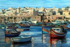 Malta, a country of color boats