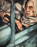 Self-portrait in the green Bugatti (ed. T. Lempicka)