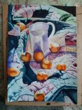 Tangerines on a blanket