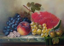Fruits and berries on the table