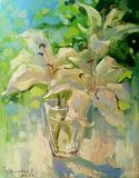 Lilies in a glass