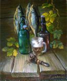Still life of a fisherman