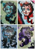 Family of Freaks (polyptych, 4 PCs.)