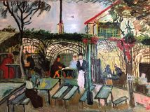 "Replica van Gogh "" Summer Cafe in Paris """