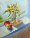 Summer still life by the window