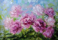Peonies in the wind