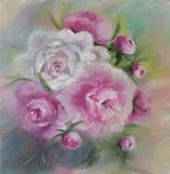 Spring bouquet of peonies