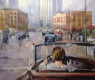 "Copy of the painting by Yuri Pimenov ""New Moscow"", 1937"