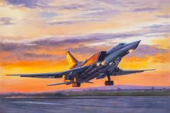 The Tu-22 M3. Leaving in the sunset