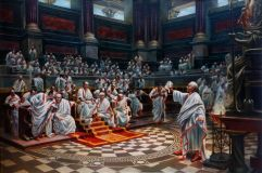 The speech of Cicero against Catalina in the Senate