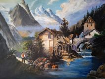 """Mill on a mountain stream"""