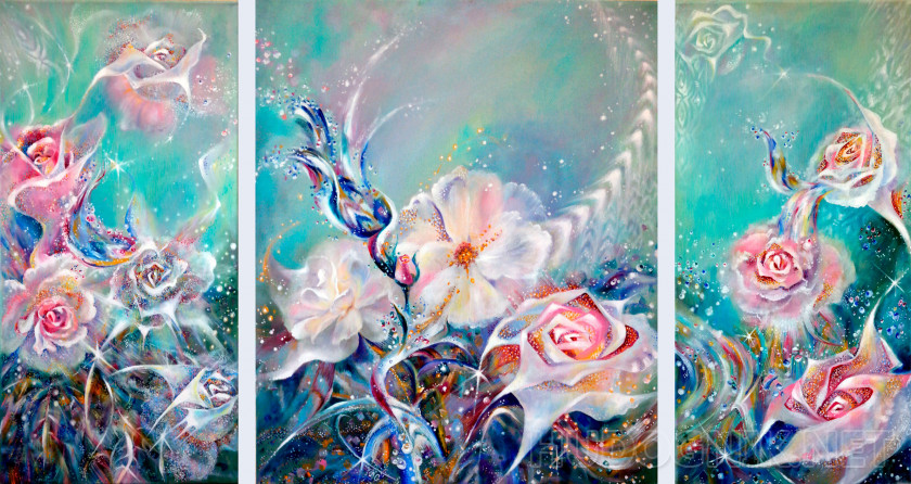 "Triptych ""Thorns and roses"""