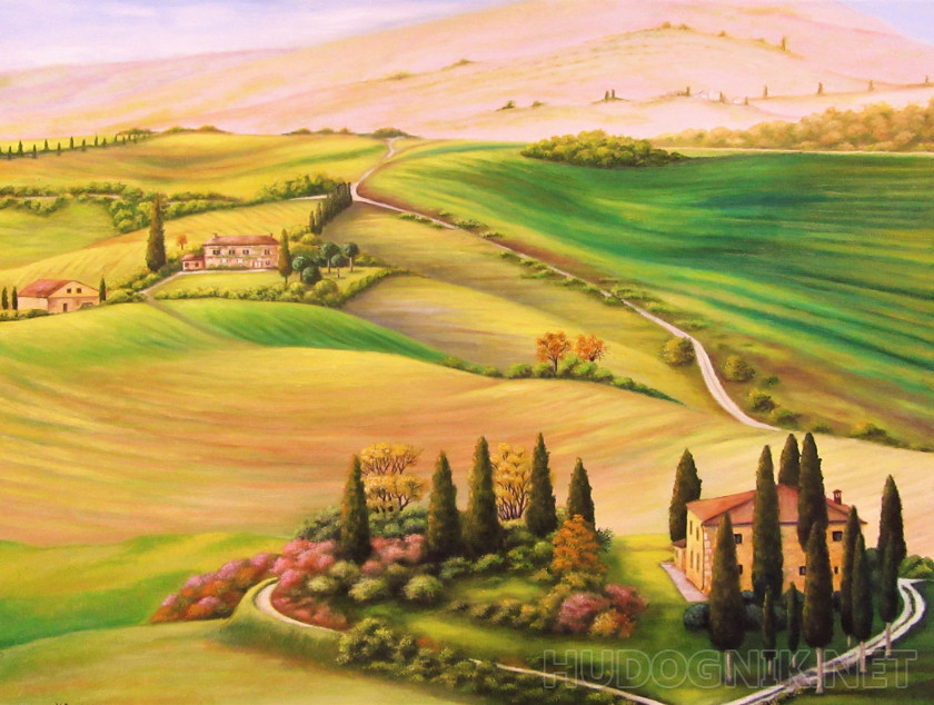 Based on the landscapes of Tuscany
