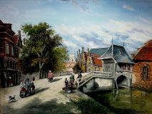 """Old Holland, fish market, Oudwater Bridge."""