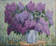 Lilacs in the garden.