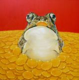 Toad in gold