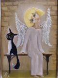 cat and angel