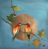 A couple of bee-eaters birds